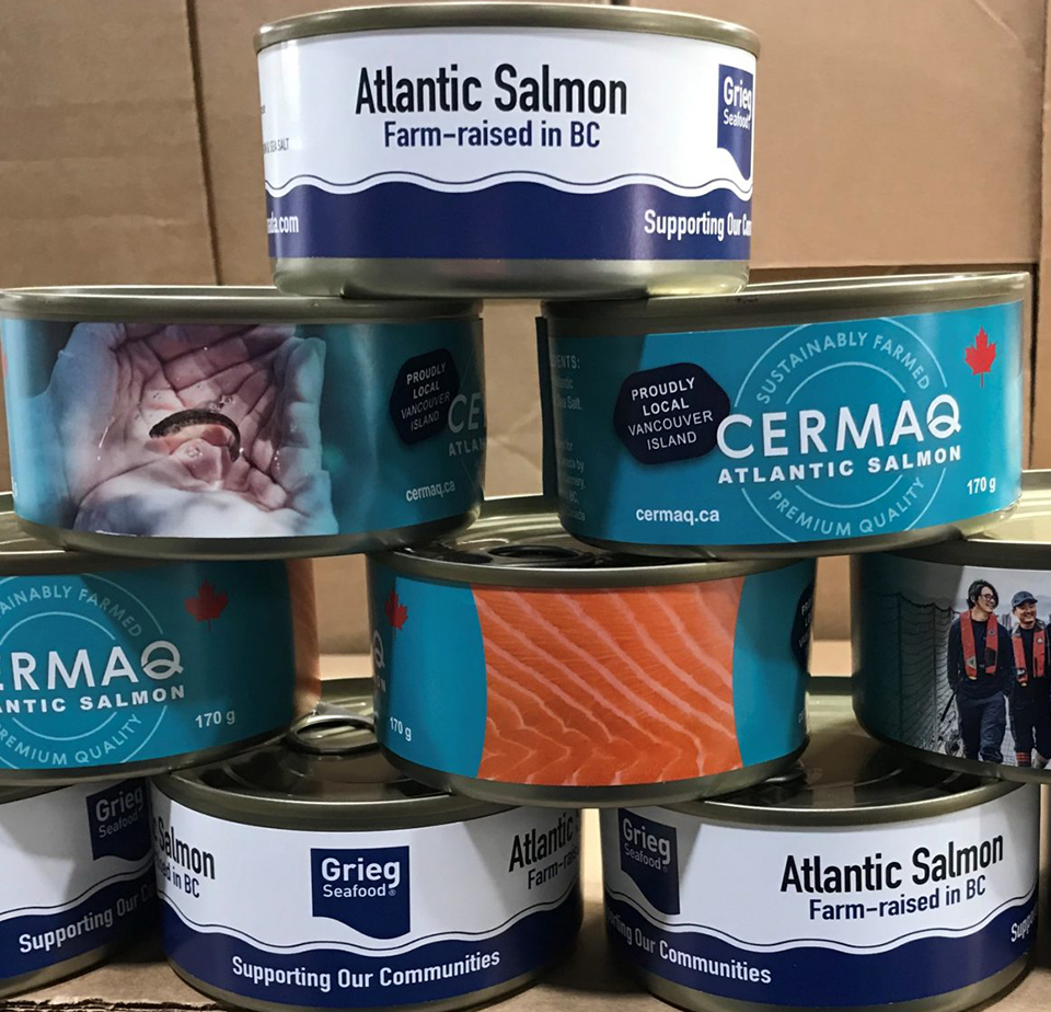 Fresh and canned salmon donated to local food banks